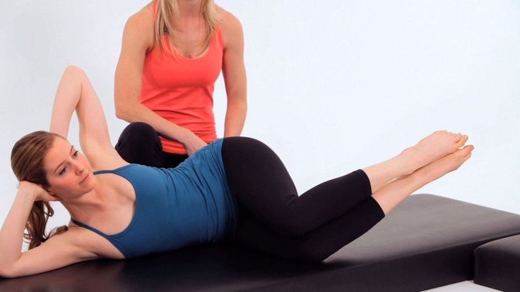 Learn to do the side kick fetal five, an advanced Pilates Mat exercise, from Core Pilates NYC instructor Sarah Ruback in this Howcast workout video.
