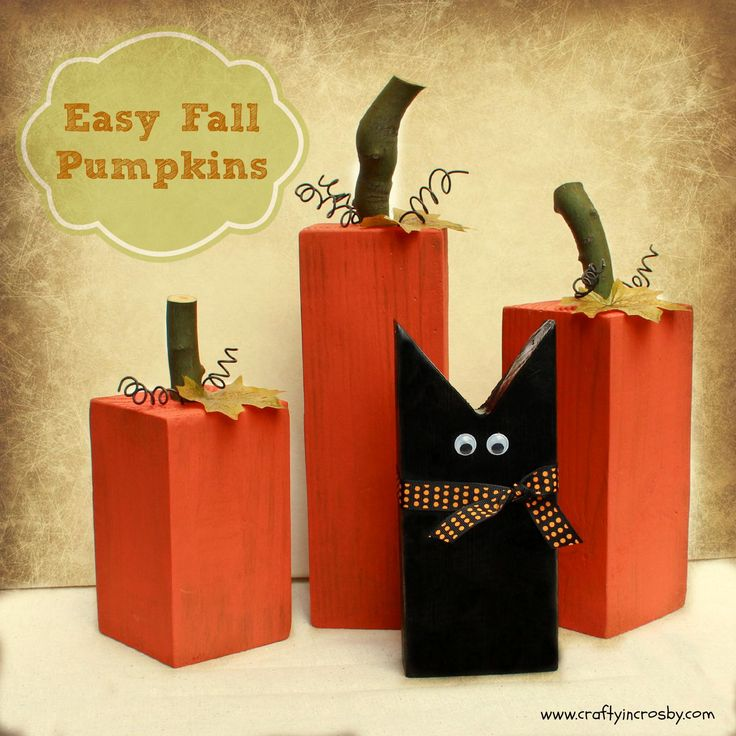 Fun Fall Pumpkins and a Sweet Black Cat - Easy DIY by Crafty In Crosby
