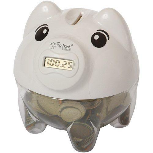 Cofre Contador de Moedas Pig Bank Branco - In Brasil R$ 50,00