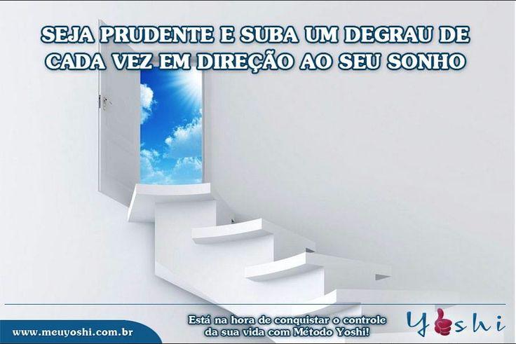 Crie metas pequenas e comemore cada conquista. Você merece!  www.meuyoshi.com.br