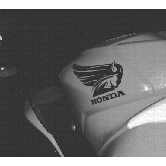 Unique old style honda logo with wings decal / sticker suitable for Honda cars like Honda brio, Honda Amaze, Honda Jazz, Honda Mobilio, Honda City, Honda CR-V,  and bikes like Honda CB Shine SP, Honda Dream Neo 2015, Honda CD 110 Dream,  Honda Activa, Honda Dio, Honda Aviator, Honda Dream Yuga, Honda Livo, Honda CB Unicorn 160, Honda CBR 150R, Honda CB Trigger, Honda Hornet 160R, Honda Lead, Honda NXR 160. This unique decal is exclusively available from Maya Stickers.  The sticker is su...