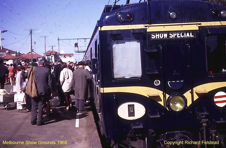 Harris train at the Showgrounds platform at the Royal Melbourne Show 1968. Richard Felstead photo