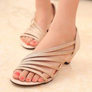Elegante 2013 bandboxes sandálias confortáveis sandálias cunhas damas $12,99