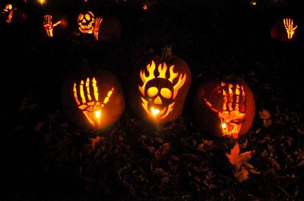 leuchtend Kürbis Schnitzvorlagen für Halloween