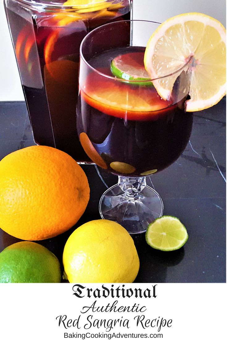 Traditional and authentic classic red sangria recipe.