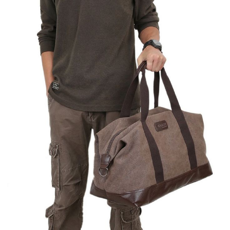 cool Vintage Large Canvas Men's Travel Luggage Shoulder Bag Tote Gym Overnight Duffle   Check more at http://harmonisproduction.com/vintage-large-canvas-mens-travel-luggage-shoulder-bag-tote-gym-overnight-duffle/