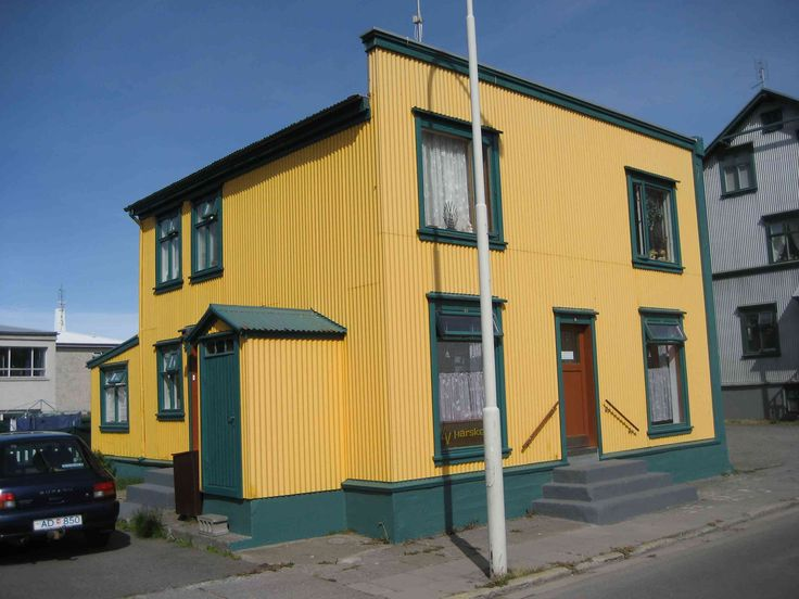 a colorful house at Isafjordur, Iceland
