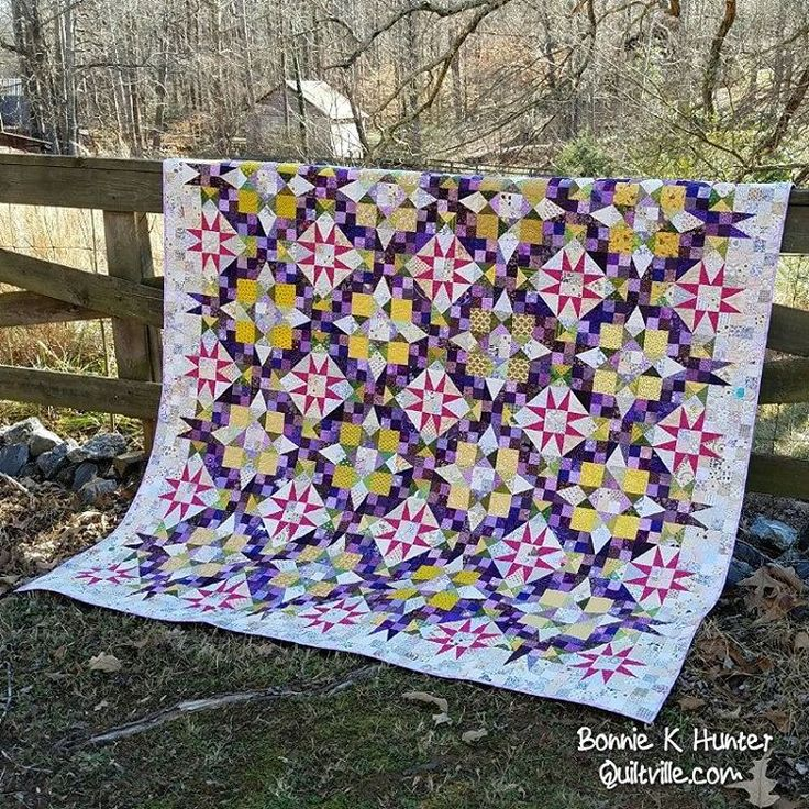 New Year's Day is such a great day for a mystery quilt reveal! This is our quilt, En Provence!  For those who don't follow my blog daily, you can review how it all comes together here: http://Quiltville.com or link in profile. Happy New Year, everyone! ❤ . . #quilt #quilting #patchwork #quiltville #bonniekhunter #mysteryquilt #quiltvillemystery #enprovencequilt #happynewyear #happynewyear2017 #quiltersofinstagram