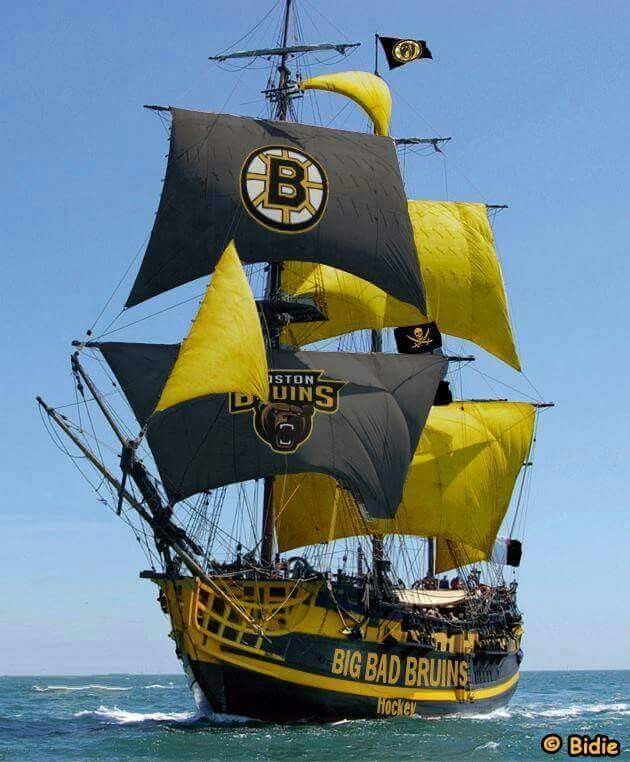 "Well that's a ""Big Bad Bruins"" Boat if Ever saw one."