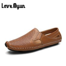 US $18.98 Big size mens real leather sandals super soft summer breathable Casual mens walking sandals summer Loafers Driving shoes AD-16. Aliexpress product