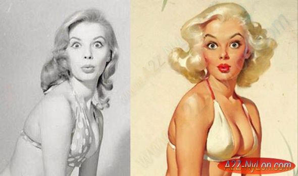 Pin-up queens! The REAL women behind saucy 1950s 'cheesecake' paintings