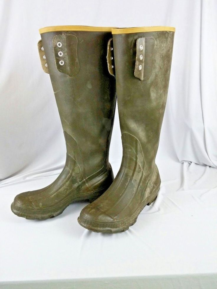 LaCrosse Mens Rubber Boots Size 9 US Uninsulated 16 inches Tall Hunting Fishing #LaCrosse #HuntingFishing