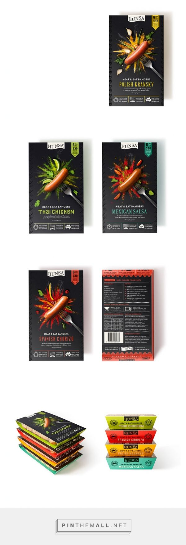 Sausage packaging design & food illustrations | Dessein - created via http://pinthemall.net