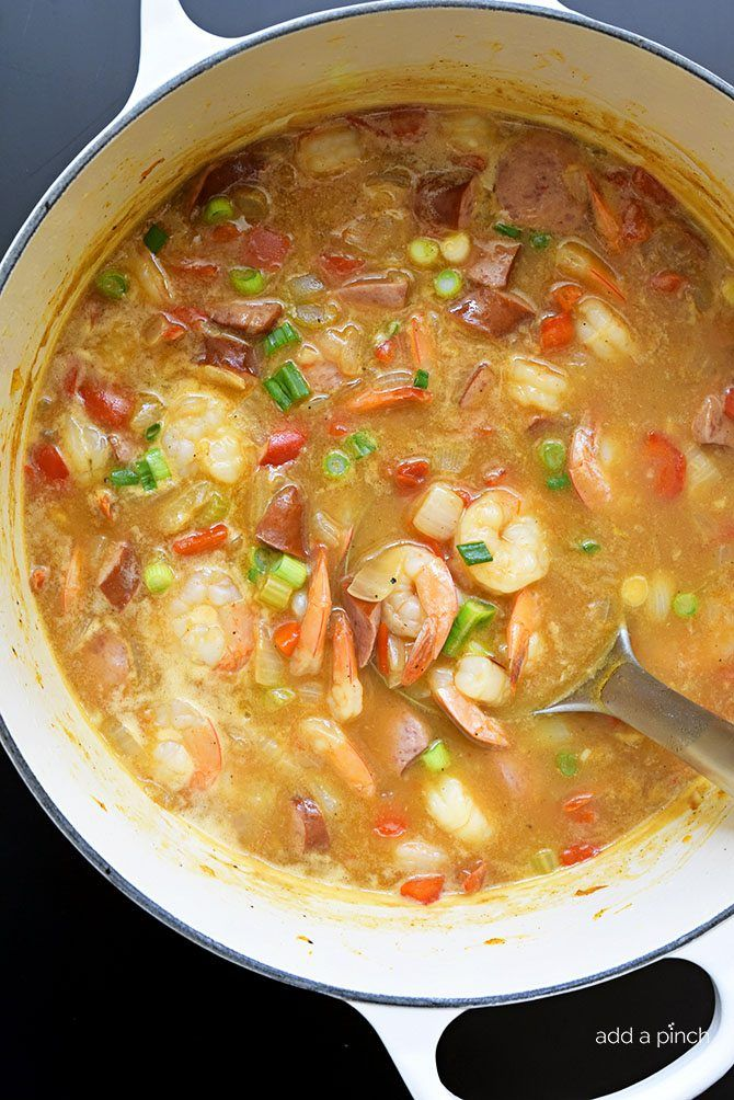 Easy Shrimp and Sausage Gumbo Recipe - Add a Pinch