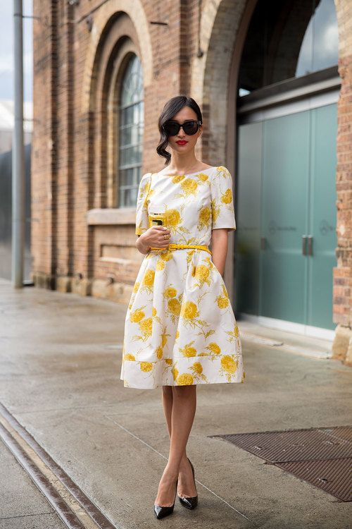 Street style | Floral printed dress