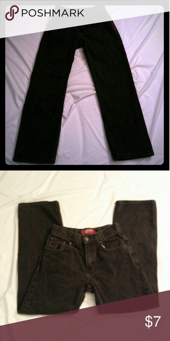 Boys Arizona Jeans Dark gray/faded black in color. Size 14 slim. Elastic in waistband. No fraying at heels Arizona Jean Company Bottoms Jeans