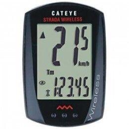 El Cuentakilometros Cateye Strada RD300 es un ciclocomputador inalámbrico que dispone de una gran pantalla con números grandes y claros. Gracias al soporte FlexTight universal es posible instalar el cuentakilometros en cualquier manillar sin necesidad de herramientas. En tu tienda online accesorios ciclismo #bikepolis por sólo 38,23€
