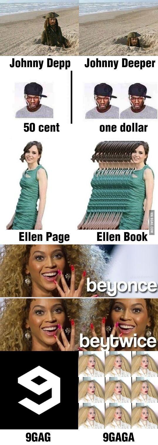 Celebrity puns, lol.