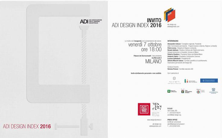 e via...  giornatina a Milano dalle 11 alle 20 per presenziare all'Adi Design Index 2016, tappa che precede l'assegnazione del Compasso d'Oro  intanto i Gum hanno ideato la grafica del catalogo... e poi abbiamo un'altra sorpresa che comunicheremo la prossima settimana ;-)  arriviamooo!  #adidesignindex #adidesignindex2016 #compassodoro #catalogo #grafica #gumdesign