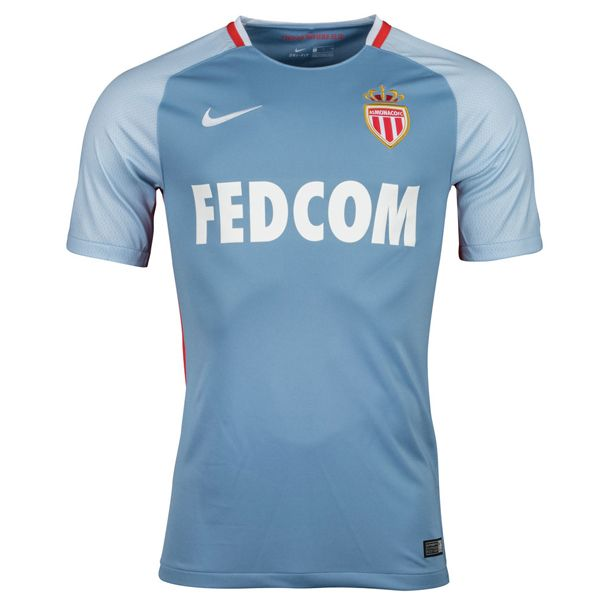Monaco Away Soccer Jersey 17/18 This is the Monaco Away Football Shirt for the 17/18 season. AS Monaco launched the Ligue 1 champion's new Away kit on July 7. The Monaco 17-18 Away kit introduces a new look while retaining Fedcom as shirt sponsor. Predominantly light blue, the Monaco 2017-18 change shirt has slightly paler and […]