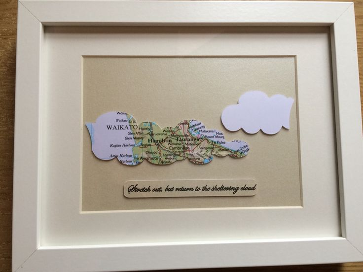 Choose your maps, shapes and personal inscription. Www.mapmyworld.co.uk travel gift clouds