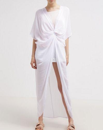 Topshop Biała plażowa Sukienka letnia white