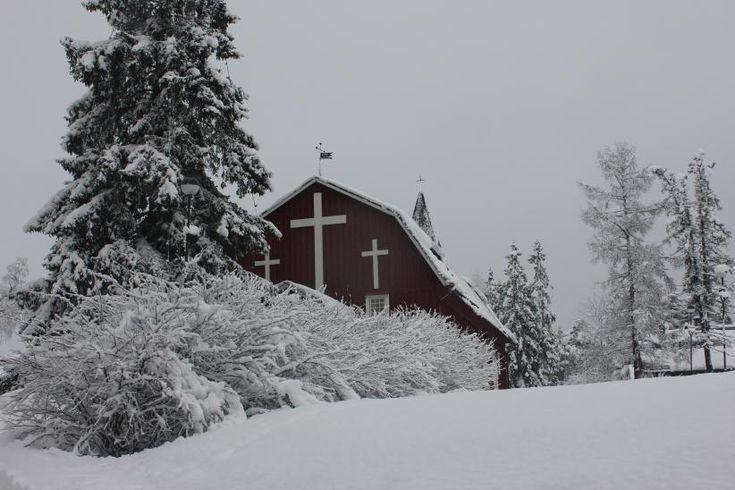an old, wooden church in #winter in Kellokoski, Finland - #architecture #photography by Aku Eronen