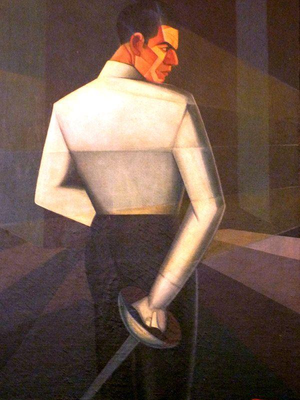 The Fencer Salafia, 1928 by Pippo Rizzo (Italian 1897-1964)