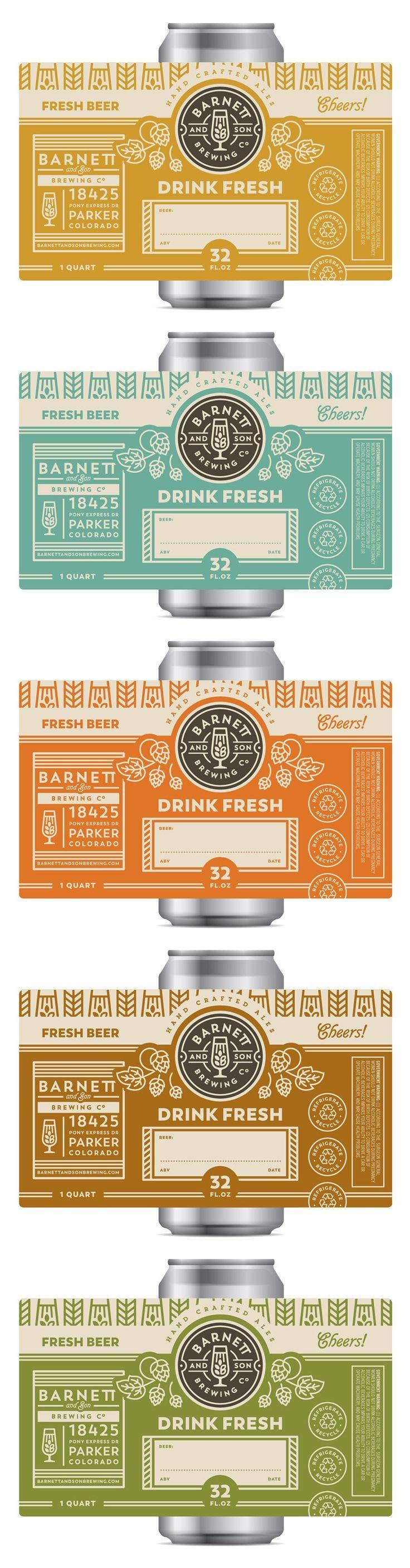 Beer can labels label design