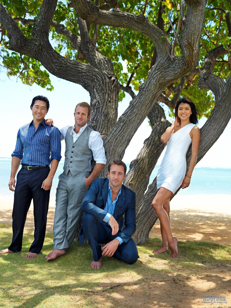Cast of Hawaii Five-0: Alex O'Loughlin, Scott Caan, Daniel Dae Kim, Grace Park