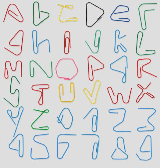 Office Supplies Made into Fonts -