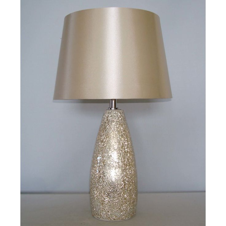"""Champagne Crackle Glass 19.5"""" Table Lamp"""