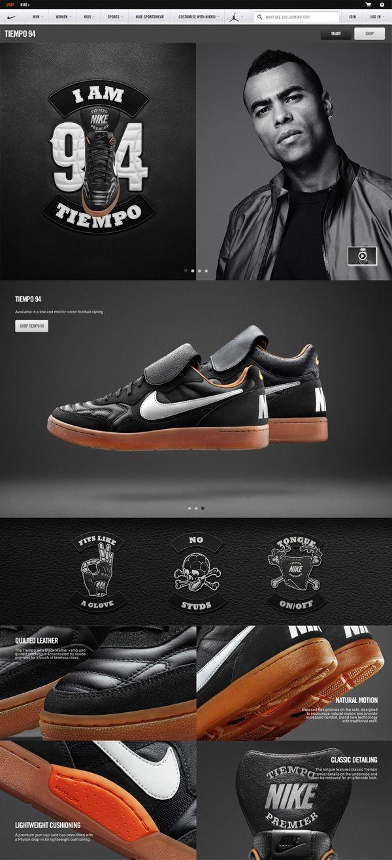 Cool Web Design on the Internet, Nike. #webdesign #webdevelopment #website @ http://www.pinterest.com/alfredchong/web-design/