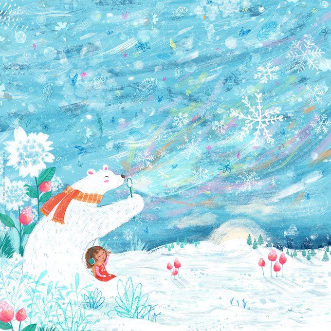 Snowflake - children's illustration by Sofia Cardoso #illustration #kidlitart