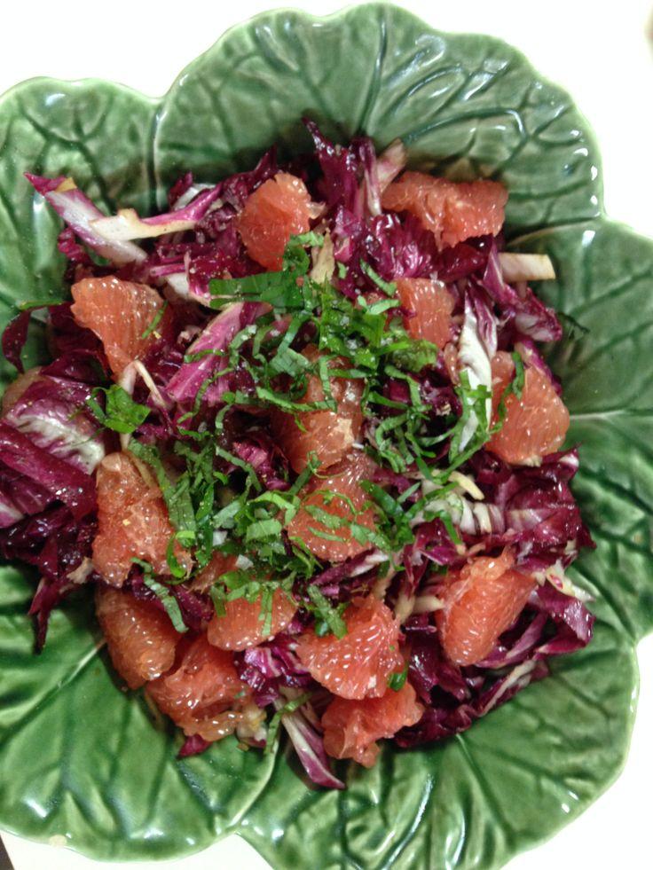 Radicchio and ruby grapefruit salad. #salads #radicchio #rubygrapefruit #homecooking