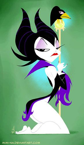 Maleficent pin-up