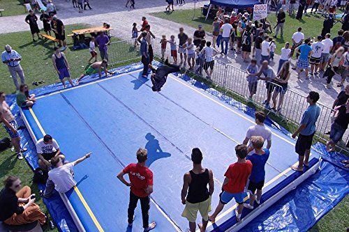 AmazingsportsTM Inflatable Tumbling Mats Blue 19.8-49.2FT...