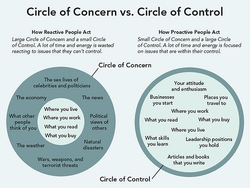 This graphic by James Clear shows the Mr. Money Mustache version of Stephen Covey's Circles of Concern and Control