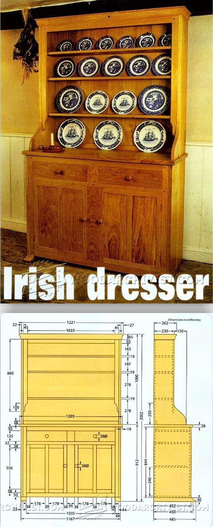 Irish Dresser Plans - Furniture Plans and Projects | WoodArchivist.com