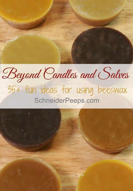SchneiderPeeps - Beeswax candles aren't the only thing you can make with beeswax. How about some lip balm or even furniture polish? Here are over 35 fun ideas for using beeswax.: