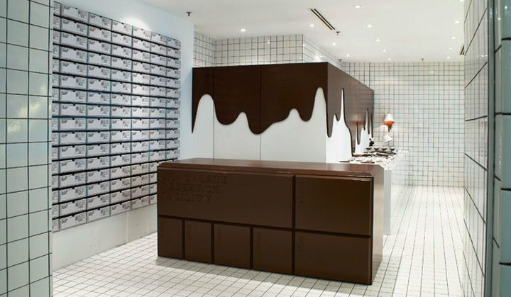 Chocolate Research Facility branding & interior design by Asylum store design hotels and restaurants branding