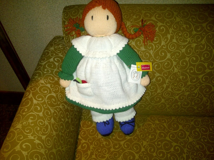 Hand knitted Anne of Green Gables doll | Casual chic ...
