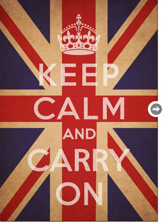 "I learned at the Churchill Museum and Cabinet War Rooms that Winston Churchill used to say ""KCCO"" upon leaving his secretaries and other staff, meaning ""Keep calm and carry on.""  So, when you're in the crowded London Tube and just want to dance away in your Boden best, try to remember: KCCO.  #boden #fromlondonwithlove"
