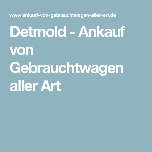 Detmold - Ankauf von Gebrauchtwagen aller Art