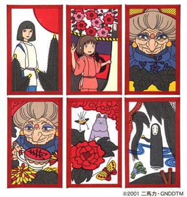 HANAFUDA japanese floral playing cards Love Spirited Away!