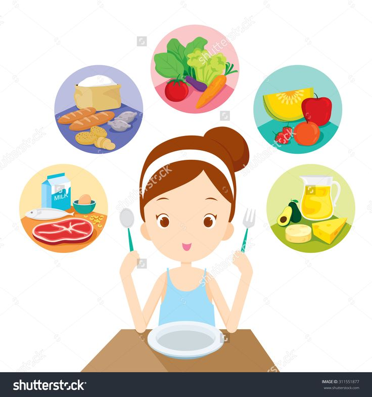 Eating Healthy Stock Vectors & Vector Clip Art | Shutterstock