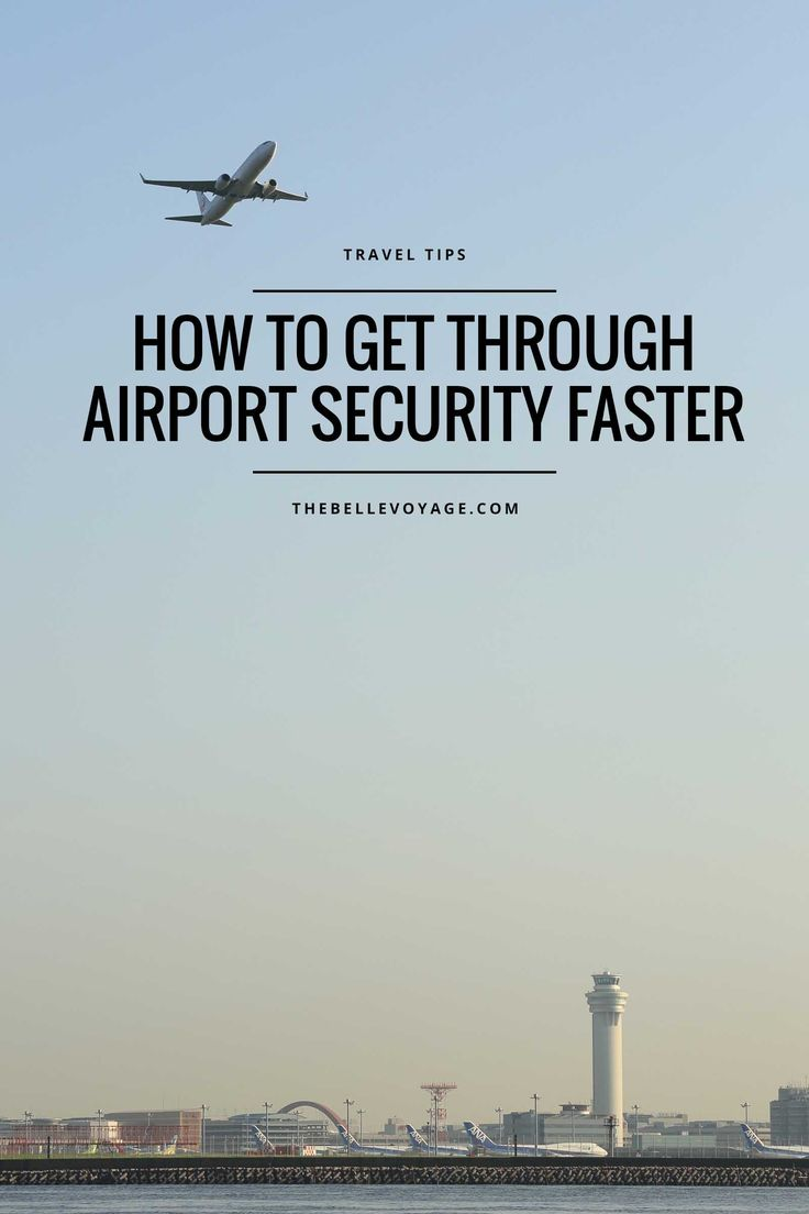How to Minimize Airport Security Wait Times | The Belle Voyage | Travel tips for TSA at the airport. Click through to read how to get through airport security like a pro, even if you don't have TSA Pre-Check!