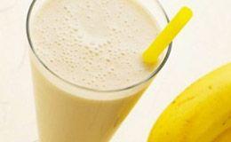 Shake de banana com maçã e linhaça