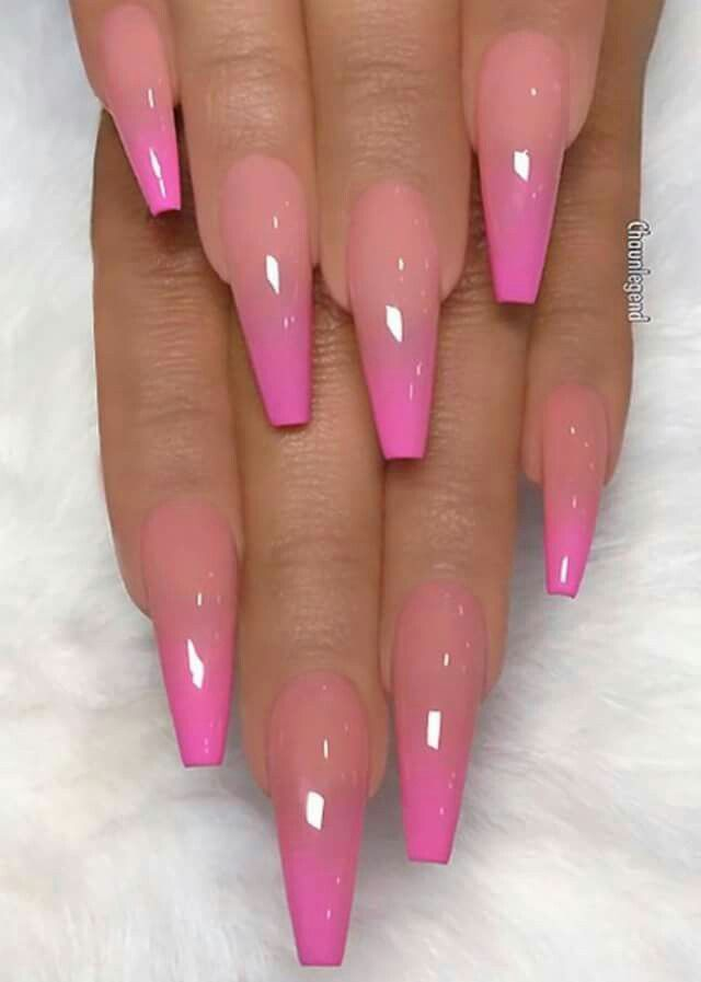 Pin By Courtney Atkinson On Nails In 2020 Pink Acrylic Nails Ombre Acrylic Nails Ombre Nails