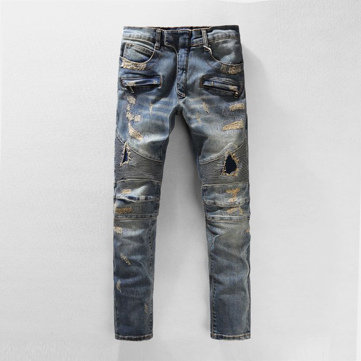 http://fashiongarments.biz/products/2016-famous-brand-ripped-jeans-for-men-blue-skinny-biker-jeans-men-slim-fit-jeans-hombre-with-zipper-pockets-plus-size-36-38-40/,    1. Size: This is Chinese size, smaller than US/European size. You can refering to your chest and shoulder, or leave us a message to ask us for help.It is our pleasure to help you. (  there is size table to help you  )  2. Color: Different computer screen can display different colors even if it is the same color. So please…